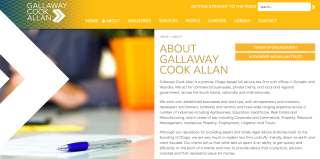 The new-look Gallaway Cook Allan website