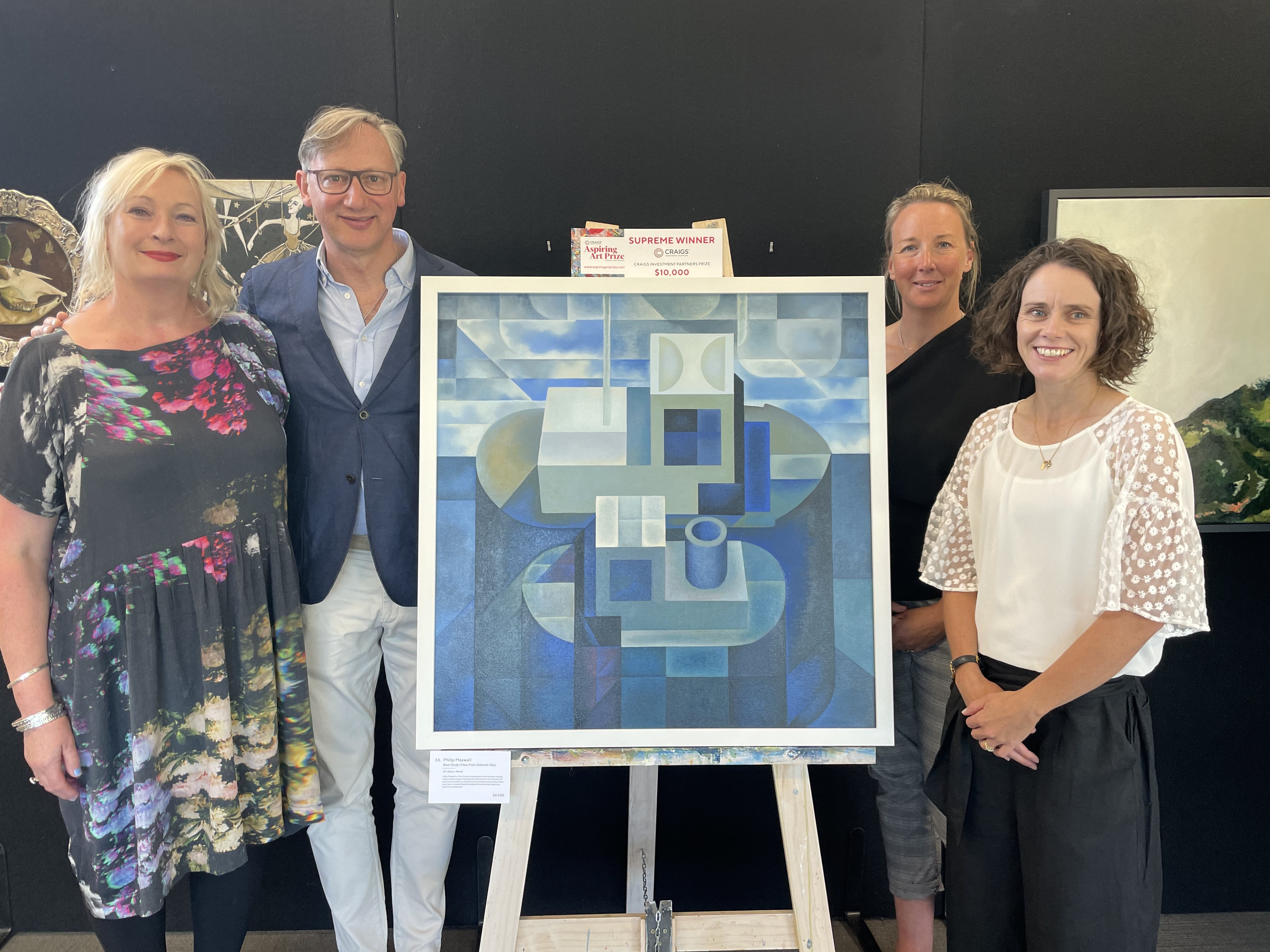 Judges impressed by technical skill and attention to detail at Wanaka's Aspiring Art Prize